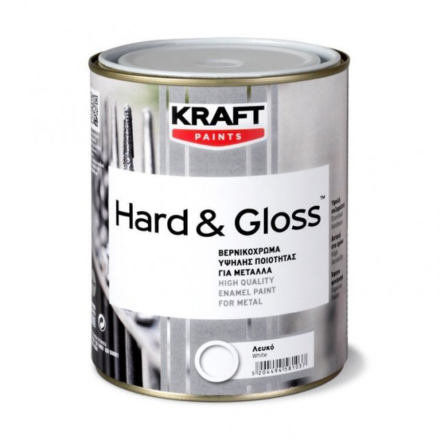 HARD & GLOSS ΒΕΡΝΙΚΟΧΡΩΜΑ ΜΑΥΡΟ 0.75L